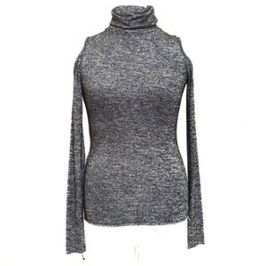 WALTER BAKER | Cold shoulder heathered gray small
